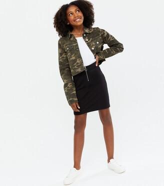 New Look Girls Ring Zip Tube Skirt