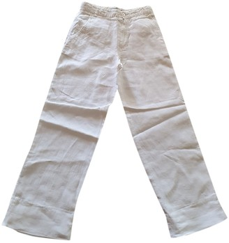 Burberry White Linen Trousers