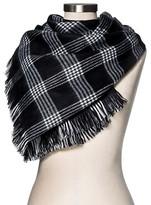 Merona Women's Blanket Scarf Black White