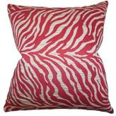 Helaine Zebra Print Throw Pillow Cover The Pillow Collection Color: Red
