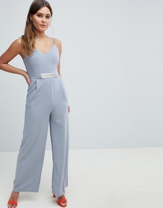 Yumi Jumpsuit With Metal Belt Detail