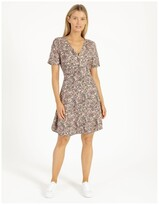 Thumbnail for your product : Only Fave Printed Mini Dress Black