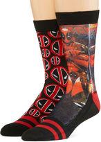 Marvel Deadpool 2-pk. Sublimated Crew Socks