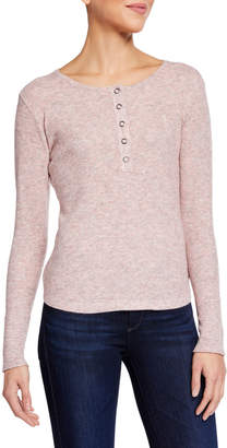 Sweet Romeo Knit Button Top