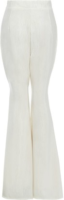 Sarvin Callie Ivory High Waisted Stripe Flared Trousers
