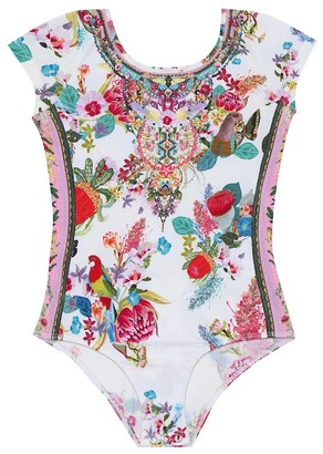 Camilla Kids Floral stretch-cotton bodysuit