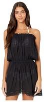 Soluna Swim SOLUNA SWIM Starbright Strapless Mini Dress (Black) Women's Swimwear