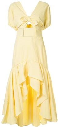 Jonathan Simkhai Off-Shoulder Gingham Dress