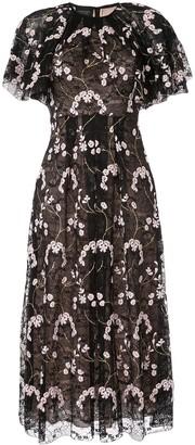 Giambattista Valli floral embroidered midi dress