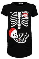 Happy Mama Boutique Happy Mama. Womans Maternity Tattoo Mom Baby Pirate Skeleton T-shirt Tee. 185p