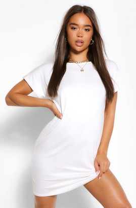 boohoo Cross Back T-Shirt Dress