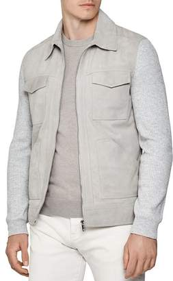 Reiss Meadow Suede Four-Pocket Jacket