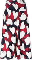 Moschino heart print midi skirt - women - Polyester - 44