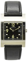 Gucci 7700M Stainless Steel / Leather with Black Dial 27.5mm Mens Watch