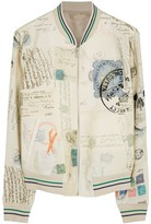 Alexander Mcqueen Letters From India Jersey Bomber Jacket