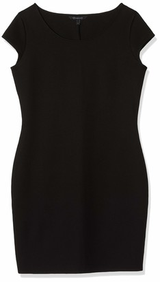 Armani Exchange A|X Women's Scoop Neck Short Sleeve Body Con Dress