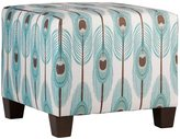 Skyline Furniture Cotton and Pine Feather-print Square Ottoman