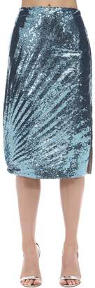 Marco De Vincenzo Sequined Techno Midi Skirt