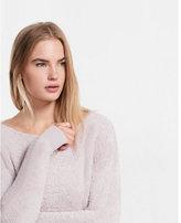Express bateau neck pullover sweatshirt