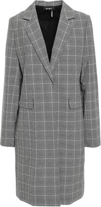 DKNY Checked Stretch-woven Coat