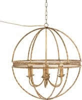 The Well Appointed House Sunglow Brass Chandelier - LOW STOCK, ORDER NOW!