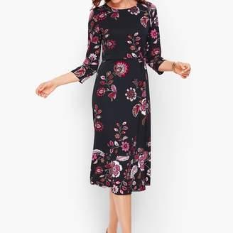 Talbots Ruched Jersey Midi Dress