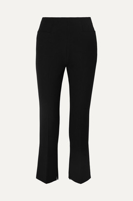 Roland Mouret Goswell Cropped Crepe Flared Pants - Black