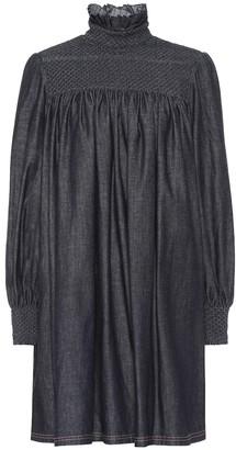 Fendi Cotton-chambray minidress