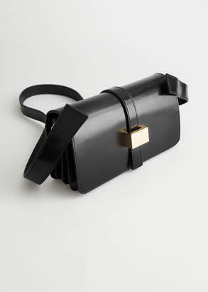 And other stories Chrome Free Tanned Leather Crossbody Bag