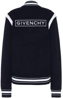 Givenchy Appliqued wool bomber jacket