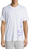 Psycho Bunny Grande Logo-Print Jersey Lounge Tee, White/Lavender