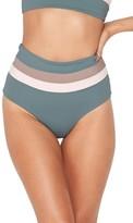 L-Space Women's L Space Portia Reversible Colorblock Bikini Bottoms