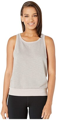 Hard Tail Boxy Crop Tank (Driftwood/Rose) Women's Clothing