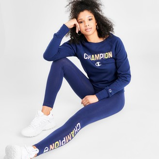 Champion Women's Powerblend Rainbow Crew Sweatshirt