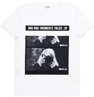 Miu Miu graphic-print cotton T-shirt