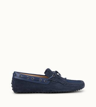 Tod's Gommino Driving Shoes in Suede and Canvas