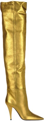 Saint Laurent Metallic Kiki Boots