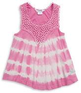 GUESS Girls 2-6x Tie Dye Crocheted Tank