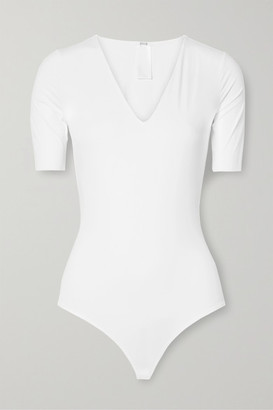 Wolford Vermont Stretch-jersey Thong Bodysuit - White
