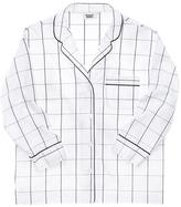 SLEEPY JONES Marina Giant Windowpane Pajama Shirt