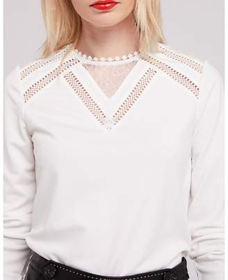 Morgan Lace Long-Sleeved T-Shirt
