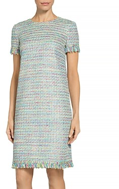 St. John Party Confetti Knit Short Sleeve Dress