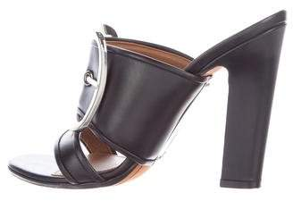 Givenchy Leather Buckle- Accent Sandals