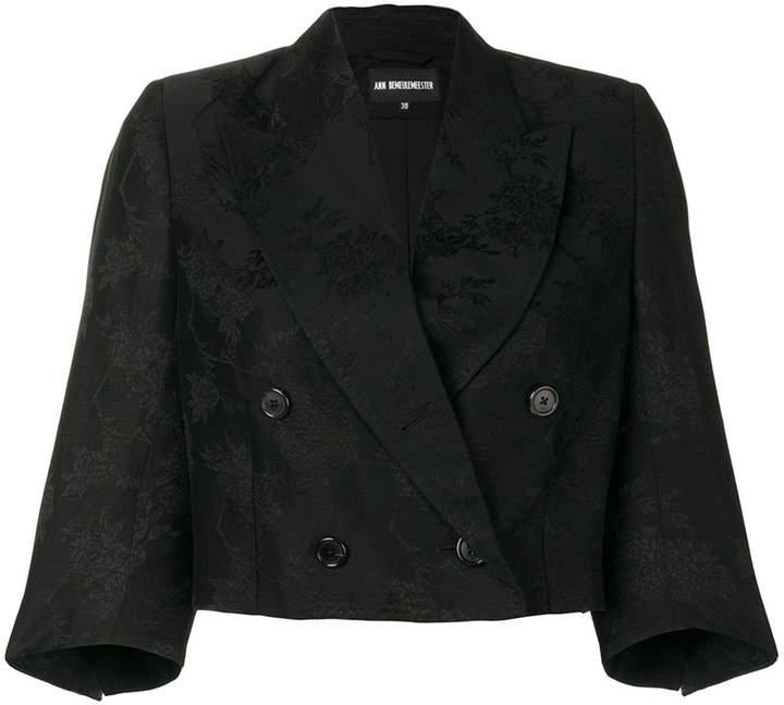 Ann Demeulemeester textured cropped blazer