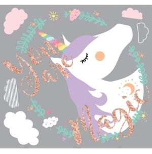 York Wall Coverings York Wallcoverings Unicorn Magic Peel and Stick Giant Wall Decals
