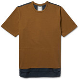 Wooyoungmi Two-tone Cotton-jersey And Poplin T-shirt