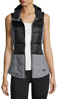 The North Face Pseudio Puffer Tunic Vest, Black/Dark Gray Heather