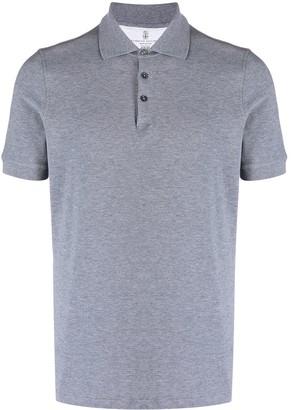Brunello Cucinelli Short-Sleeved Cotton Polo Shirt