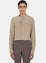 Gucci Men's Silk Crêpe De Chine Shirt In Taupe