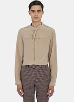 Men's Silk Crêpe De Chine Shirt In Taupe €500